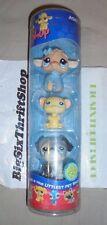 Littlest Pet Shop Winter 3 Pack - Poodle, Hamster, and Pug - 446 447 448 Bobblin