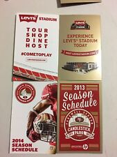San Francisco 49ers 2013 - 2014 Mini Schedules From Candlestick & Levi Stadiums