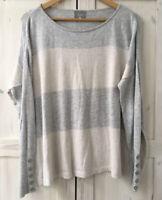 MINT VELVET HYGGE UK 14 Oversized Cashmere Blend Grey Blush Jumper Sweater Top