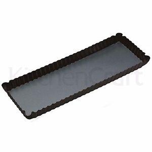 MASTERCLASS Non-Stick Tart/Cake/Flan Tin 36x13cm. Rectangle/Oblong, Loose Base