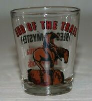 Vintage Shot Glass - End of the Trail - Trees of Mystery California Redwoods