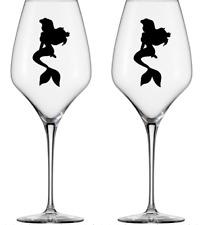 Set of 10 Disney Ariel Little Mermaid Vinyl Decal Wine Glass stickers