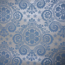 1 Roll of Vintage Damask Baby Blue White Pearl Paisley Floral Wallpaper 20.5""
