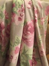 Next Vintage Inspired, Rose curtains, ring top, 54 ins l, exc con