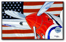Red, White, Lightnin' and Blue by David Mueller - Aviation Art Print - Canvas