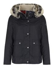 Barbour 'Cravasse' Water Repellent Cotton Faux Fur Jacket Navy 8 NWT MSRP $449