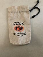 NEW TITO'S HANDMADE VODKA AUSTIN TEXAS  BACKPACK  DRAW STRING CINCH CANVAS BAG