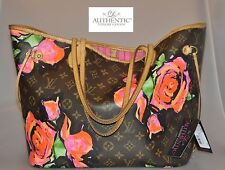 Authentic Louis Vuitton Monogram Stephen Sprouse Roses Neverfull MM