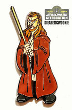 Star Wars Celebration Chicago Qui-Gon Jinn Phantom Menace Trading Pin IN HAND