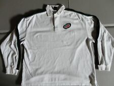 White Embroidered Mountain Dew Soda Pop DO THE DEW Heavy Polo L/S Shirt Mens XL