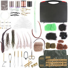 Fly Tying Kit with Box Natural Feather & Dubbing & Hooks & Beads & Lead & Tools