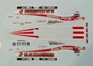 1/16 MICKEY THOMPSON'S 1976 US MARINES GRAND AM FUNNY CAR DECAL/REVELL/MPC/