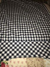 Pottery Barn Pair Organic Cotton Navy And White Checked Pillowcases Pillow Cases
