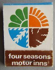 Four Seasons Motor Inns Around Tasmania Matchbook