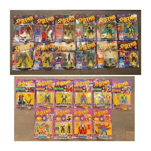 22 Lot Toy Biz Spider-Man The New Animated Series 1994 1995 1996 Carnage Goblin
