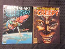 1979 CREEPY Warren Horror Magazine LOT of 2 Issues #109 110 FVF Rudy Nebres