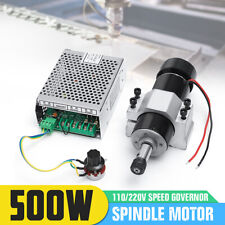 500W Spindle Motor CNC Air Cooled 0.5kw Milling w/ Spindle Speed Power Converter