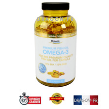 300 Gélules Oméga 3 Huile Poisson Pure Acide Gras EPA DHA Vitamine E Capsules
