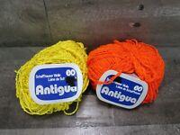 Vintage Antigua Schaffhauser Wolle Switzerland Yarn Orange Yellow Nubby Boucle
