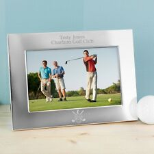 Aluminium Frame Personalised Silver 6x4 Golf Photo Frame - Golf Gift Frame Gift