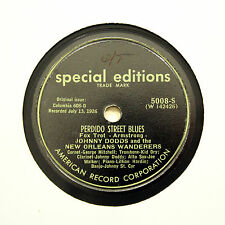 """JOHNNY DODDS NEW ORLEANS WANDERERS """"Gate Mouth"""" SPECIAL EDITIONS 5008 [78 RPM]"""