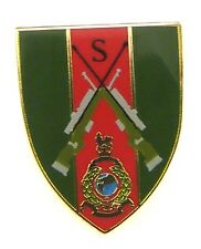 ROYAL MARINE COMMANDO SNIPER CLASSIC HAND MADE IN UK PLATED LAPEL PIN BADGE