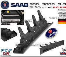 Saab 9-3 9-5 900 9000 Negro Paquete De Cassette De Bobina De Encendido Módulo 55559955 9187980