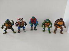 Lot of 5 Vintage Teenage Mutant Ninja Turtles Figures 1990s please Read