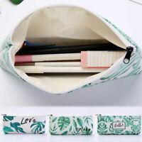 Classic Leaves Plant Pencil Pen Case Cosmetic Makeup Zipper Bag Storage Pouch
