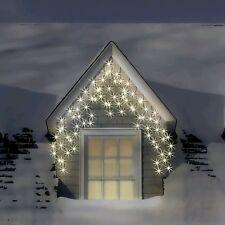 300 LED Xmas WARM + ICE WHITE Christmas Light Multi Function Snowing Icicles
