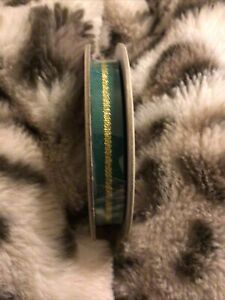 """Stampin' Up Ribbon Shaded Spruce Striped Ribbon 3/8"""" Retired! NEW"""