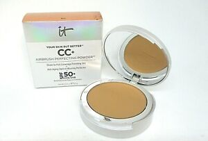 It Cosmetics Your Skin But Better CC+ Airbrush Perfecting Powder ~ Rich ~.33 oz