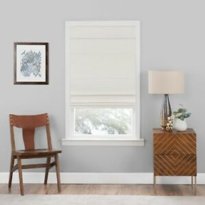 NEW Achim Cordless Blackout Easy Care Polyester Roman Shade - Ivory