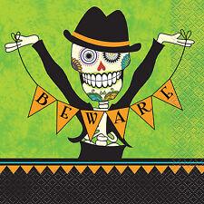 16 Halloween Giorno dei Morti tovaglioli zucchero Skull dia Muertos festa stoviglie
