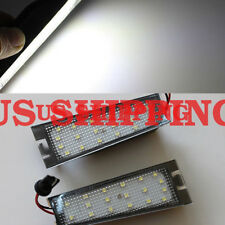 2 x white LED License Number Plate Lights Error Free For Cadillac CTS 2008-2014