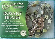 Genuine Connemara Marble Rosary Beads With Extra Strong Double Link Chain