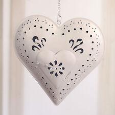 Hanging Tea Light Heart Metal Home Decor Hanger Gift 23cms BRAND NEW. Large