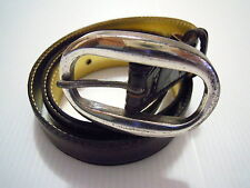 "VENEZIA N.7 Cintura Donna Pelle Woman Leather Belt ""Made in Italy"" Sz.L"