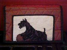 Scottie ~ Needlepoint Quilted Wallet