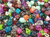 (100) Wiz Dice Random Color Loose Polyhedral Dice Lot, Gaming RPG D&D