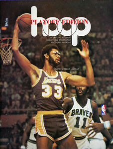 1976-77 NBA PLAYOFFS GOLDEN STATE WARRIORS vs. LOS ANGELES LAKERS GAME 2 PROGRAM