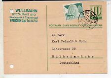 Suiza Entero Postal con franqueo Complementario año 1955 (DL-584)