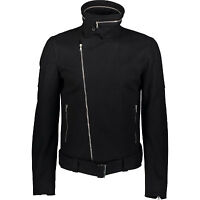 JOHN RICHMOND Black Fleece Biker Jacket - Size M