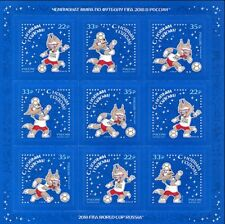 2018 FIFA WORLD CUP Russia™ / Soccer / Happy New Year! / MNH Set of 9 Stamps