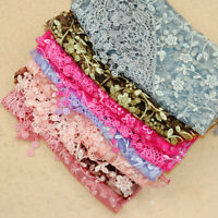 Hollow Tassel Lace Rose Floral Knit Triangle Mantilla Scarf Shawl Wrap Delicate