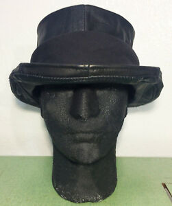 Marc Vachon Custom Black Leather Franken Fedora