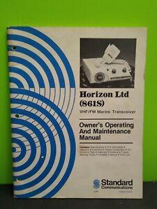 Standard Communications Horizon LTD (861S) VHF/FM Marine Transceiver Manual