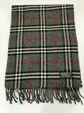 Genuine Burberry  Vintage 100% Lambswool Nova check Dark grey Scarves Scarf
