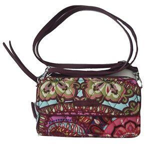Vera Bradley RFID Deluxe All Together Crossbody Bag Wristlet Wallet Purse