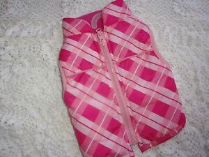 Pink PLAID zip Jacket Bomber Dog XXS XS S Bond & Co new pet coat